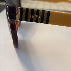 FENDI brown and yellow sunglasses